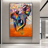 street art graffiti canvas art wall paintings posters and prints canvas color elephant pictures for living room home decoration