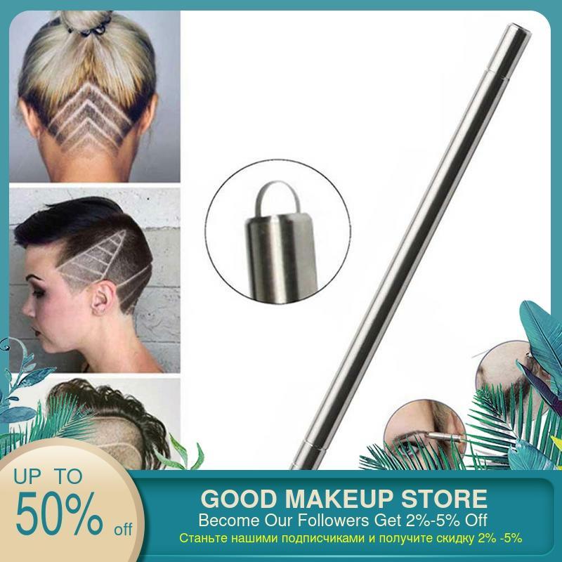 1 pçs modeladores de cabelo profissional magia gravar barba tesouras do cabelo sobrancelhas carve caneta tatuagem barbeiro cabeleireiro tesoura
