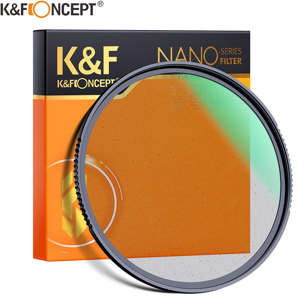 K & F مفهوم الأسود ميست نشر 1/2 1/1 عدسة فلتر المؤثرات الخاصة تصوير الفيديو مثل الأفلام 49 مللي متر 52 مللي متر 58 مللي متر 62 مللي متر 67 مللي متر 77 مللي ...