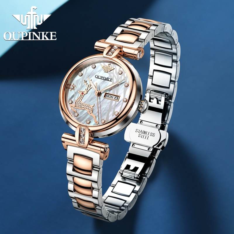 OUPINKE Women  Fashion Switzerland Luxury Wrist Watch enlarge