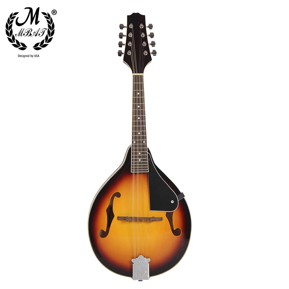M MBAT 8-String Mandolin Guitar A-Style Basswood Traditional Mandolin Set Musical String Instrument for Benginners with Bag enlarge