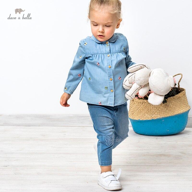 DBZ16661, демисезонные модные рубашки для маленьких девочек с вышивкой в виде героев мультфильмов, топы для малышей, детская одежда высокого качества|Блузки и рубашки| | АлиЭкспресс