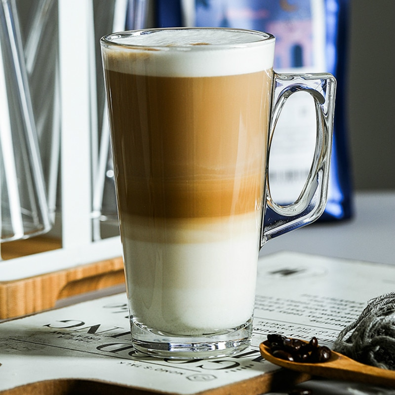 Не содержит свинца закаленное стекло Термостойкое латте слоистая кофейная чашка