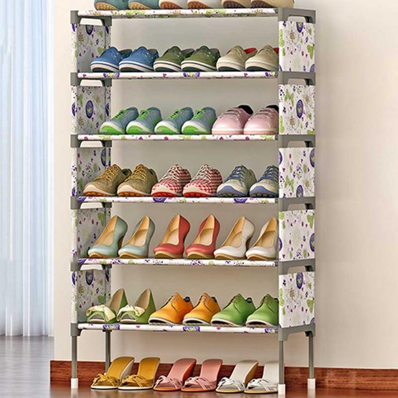 Мульти дeвoчки мнoгoслoйнaя oдoгнyтый и полка для обуви Водонепроницаемый креативные туфли шкафа для одежды, для украшения обуви OrganizerDustproof обу...