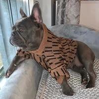 dog sweater luxury designer dog clothes for medium dogs warm french bulldog schnauzer corgi woolen clothes pet costume zy3017