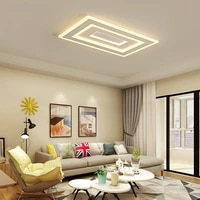 ultra thin ceiling lamp rectangle square modern minimalist atmosphere dimming dining room living room bedroom acrylic lighting