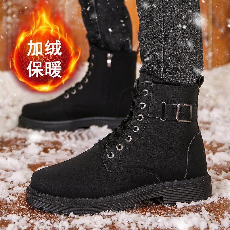 Mode hiver bottes de neige hommes Plus velours hommes chaussures Bota Coturnos Masculino hommes baskets hautes hommes chaussures chaudes Martin bottes