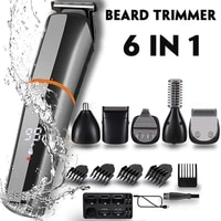 6 in 1 professional hair clipper trimmer rechargeable electric shaver men hair cutting machines beard trimer facial grooming kit