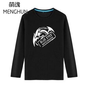 Yu-Gi-Oh blue eyes white dragon long sleeve t shirts anime fans cotton t shirts Autumn long sleeve t shirts ac1642