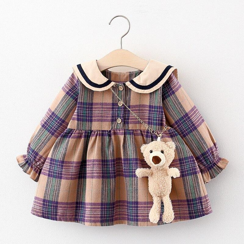м мадера долина эдельвейсов и день рождения принцессы Платье для новорожденных девочек, одежда для маленьких девочек, клетчатые платья принцессы на день рождения для младенцев, одежда для малыш...
