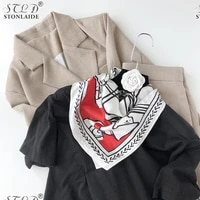 53cm new scarf designer 100 silk ladies scarves japanese print square scarf silk womens handkerchief spring autumn hair band