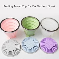folding cups 270ml bpa free food grade water cup travel silicone retractable portable outdoor coffee tea handcup car cup bottles