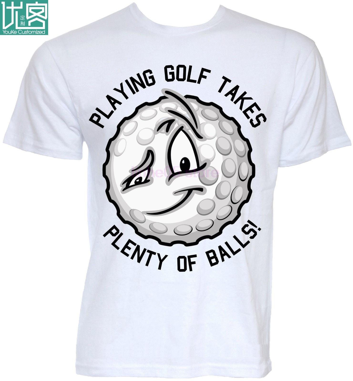 Novedad graciosa para hombre, eslogan de pelota de golfista, broma de golf, camisetas Groot, Regalos divertidos, camisetas de moda para hombre, ropa 2019