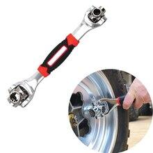 Clé tigre 8 en 1 outils douille fonctionne avec des boulons cannelés Torx 360 degrés 6 points universel meubles voiture réparation 25cm seulement rouge