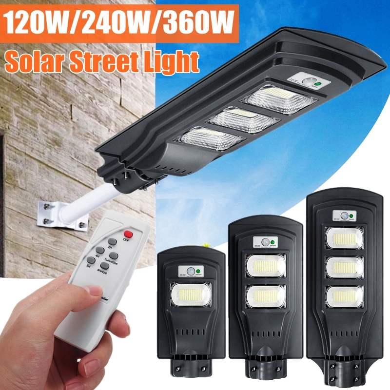 AUGIENB 120 Вт/240 Вт/360 Вт Светодиодный светильник на солнечной батарее, настенный уличный светильник, супер яркий радар, PIR датчик движения, Лампа ...