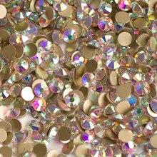Yanruo Mix Ab Crystal Stenen Platte Achterkant Strass Niet Hot Fix Steentjes Nail Art Decoraties En Kleding Plaksteen Diy