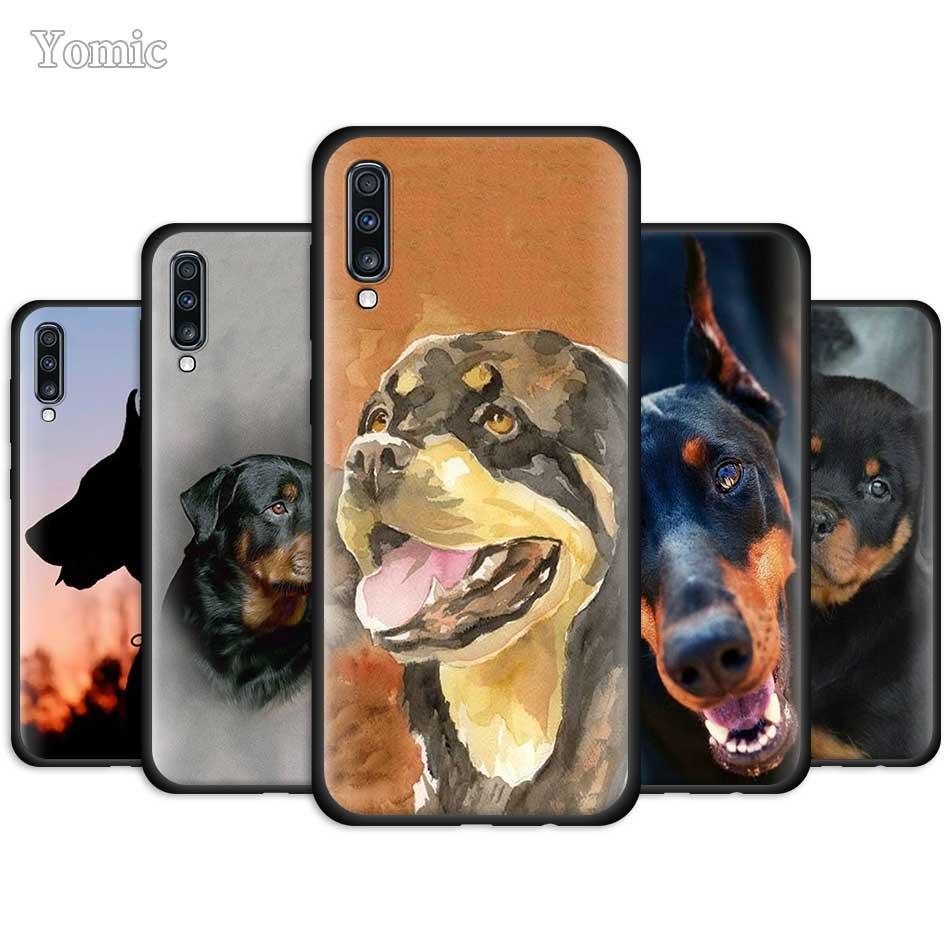 Funda de silicona para perro Rottweiler para Samsung Galaxy A50 A51 A40 A41 A70 A71 A10 A30 S A31 A20 E funda negra blanda para teléfono móvil