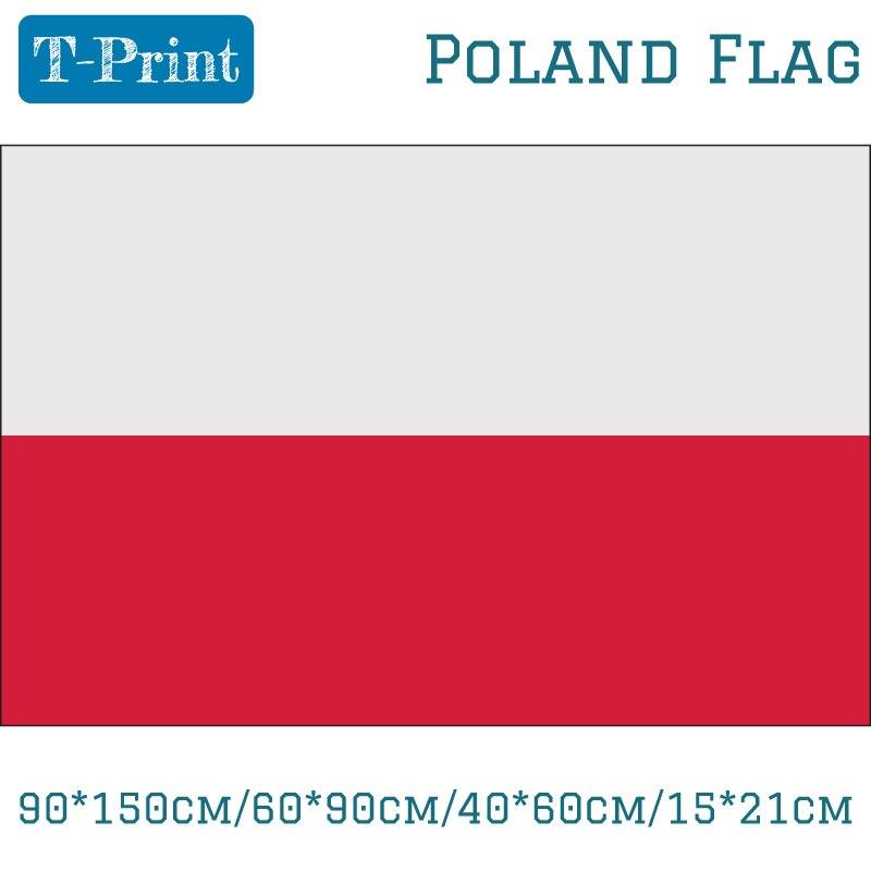 90*150cm/60*90cm/40*60cm/15*21cm Polonia nacional polaco de fútbol fanáticos partidarios bandera 5x3ft