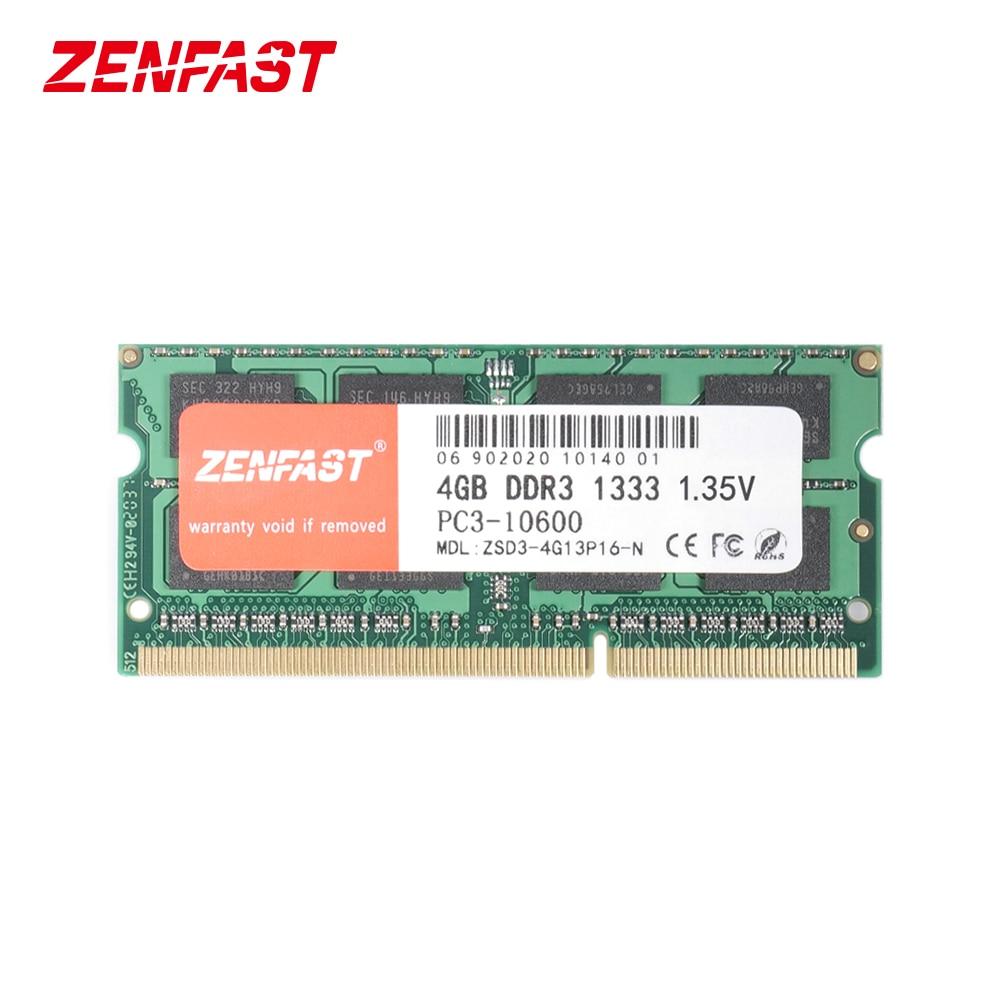 ZENFAST DDR3 4GB 8GB 1333MHz 1600MHz SO-DIMM 1.35V دفتر رام 204Pin محمول الذاكرة Sodimm