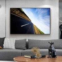 Peinture a lhuile de paysage sur toile dart de voie ferree  salon  couloir  bureau  decoration murale de la maison