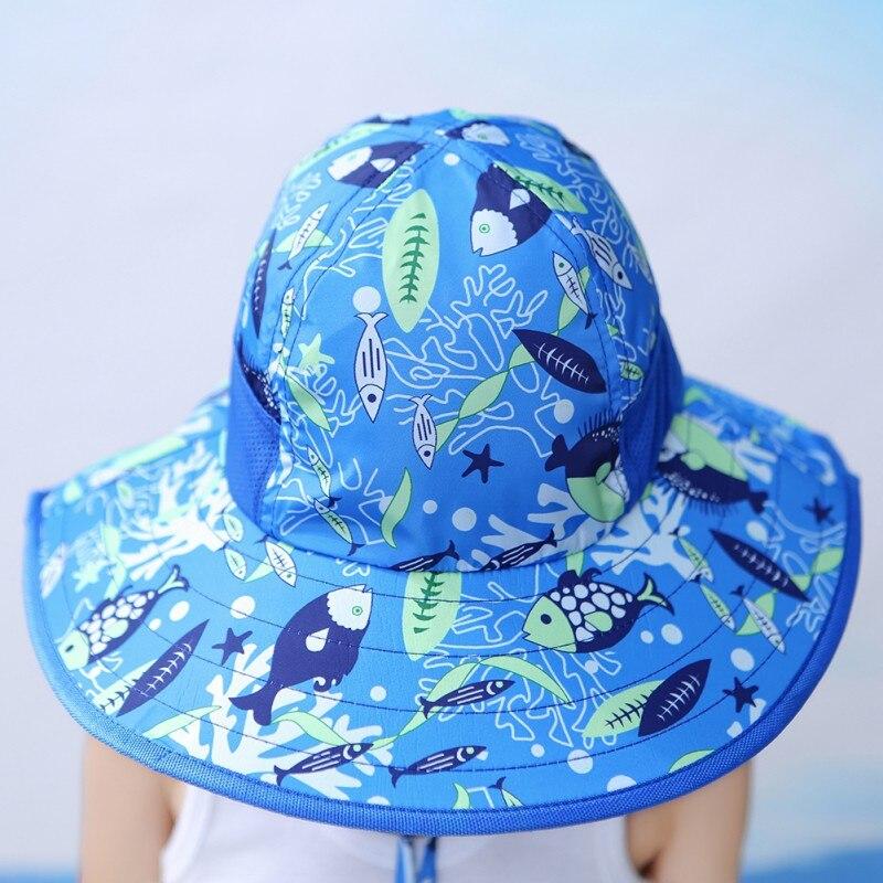 Baby Bucket Hat Cotton Fisherman Sunshade Hats Kids Summer Boys Girls Panama Sun Cap  - buy with discount