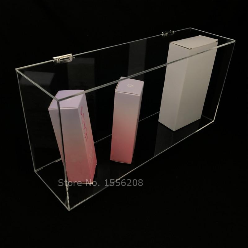 عرض 13 سنتيمتر طول 47 سنتيمتر ارتفاع 22 سنتيمتر الاكريليك المنظم صندوق تخزين الغبار الحاويات