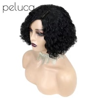 peluca front lace human hair wigs short bob curly human hair wig lace closure wig for black women pre plucked high quality hair
