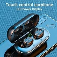 Tws sem fio bluetooth fone de ouvido 8d estéreo fone de ouvido jogos com microfone à prova dwaterproof água esporte fones com caixa carregador