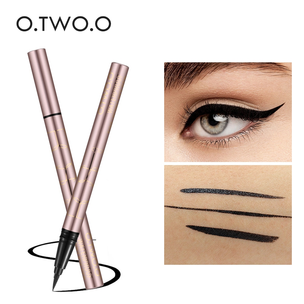 O.TWO.O Black Liquid Eyeliner Eye Make Up Super Waterproof Long Lasting Eye Liner Easy to Wear Eyes