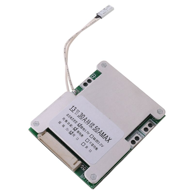 203F BMS 13S 48V 50A 18650 Li-ion Lithium Battery Pack Protection Equalizer Board PCB