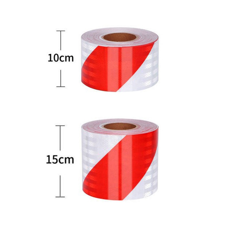 Self-Adhesive PET Reflective Safety Warning Tape Road Traffic Construction Site недорого