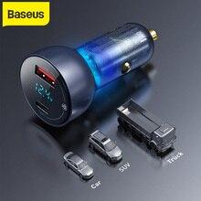Baseus 65 Вт QC + PPS двойное быстрое зарядное устройство типа C быстрая зарядка автомобильное зарядное устройство для Мобильный телефон планшет ноутбук зарядка авто зарядное устройство адаптер