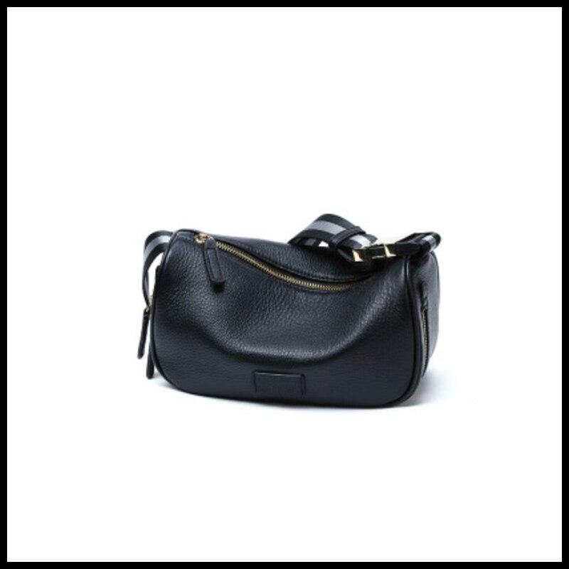 Сумка-мессенджер женская из натуральной воловьей кожи, вместительный саквояж на плечо с широким ремнем, сумочка кросс-боди, поясной чемодан...