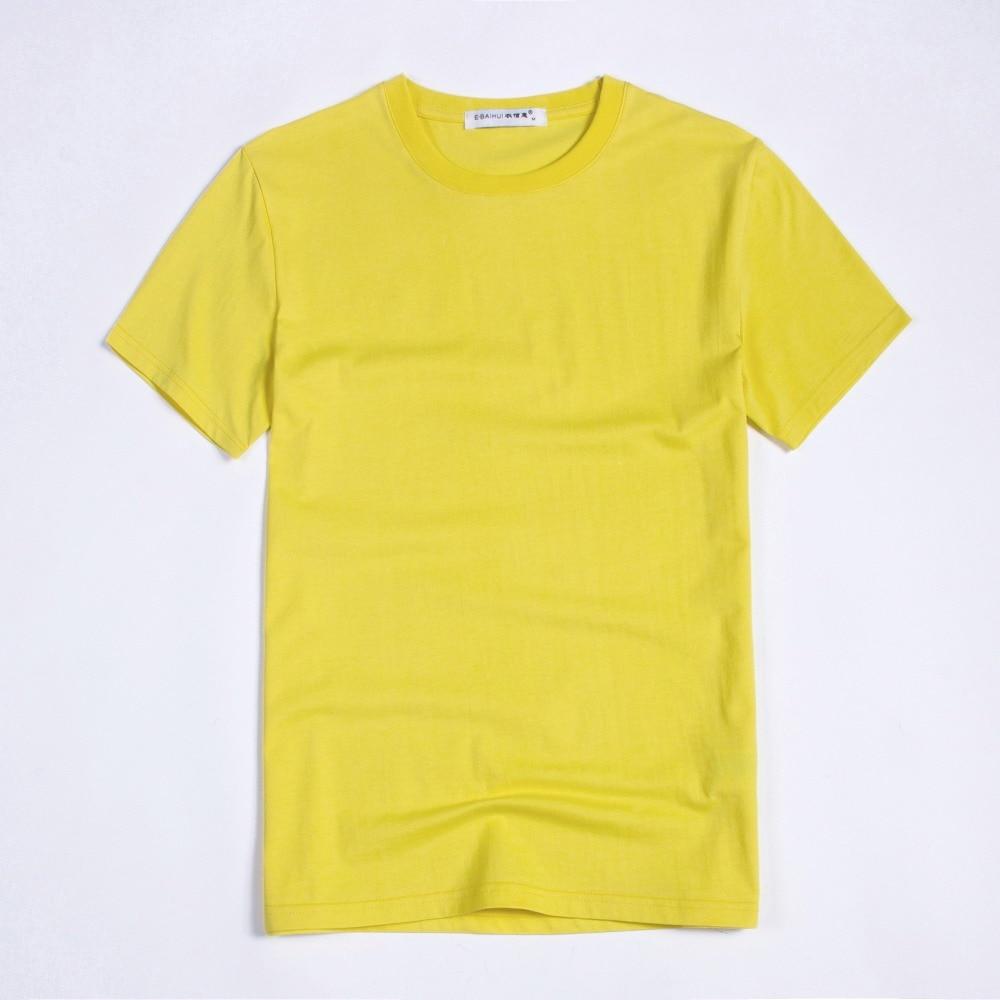 Fábrica de China, Camiseta de algodón 100% de colores en blanco para hombre, tamaño XS-S-M-L-XL-2XL-3XL-4XLRed/Negro/Blanco/azul/gris/amarillo T009-2