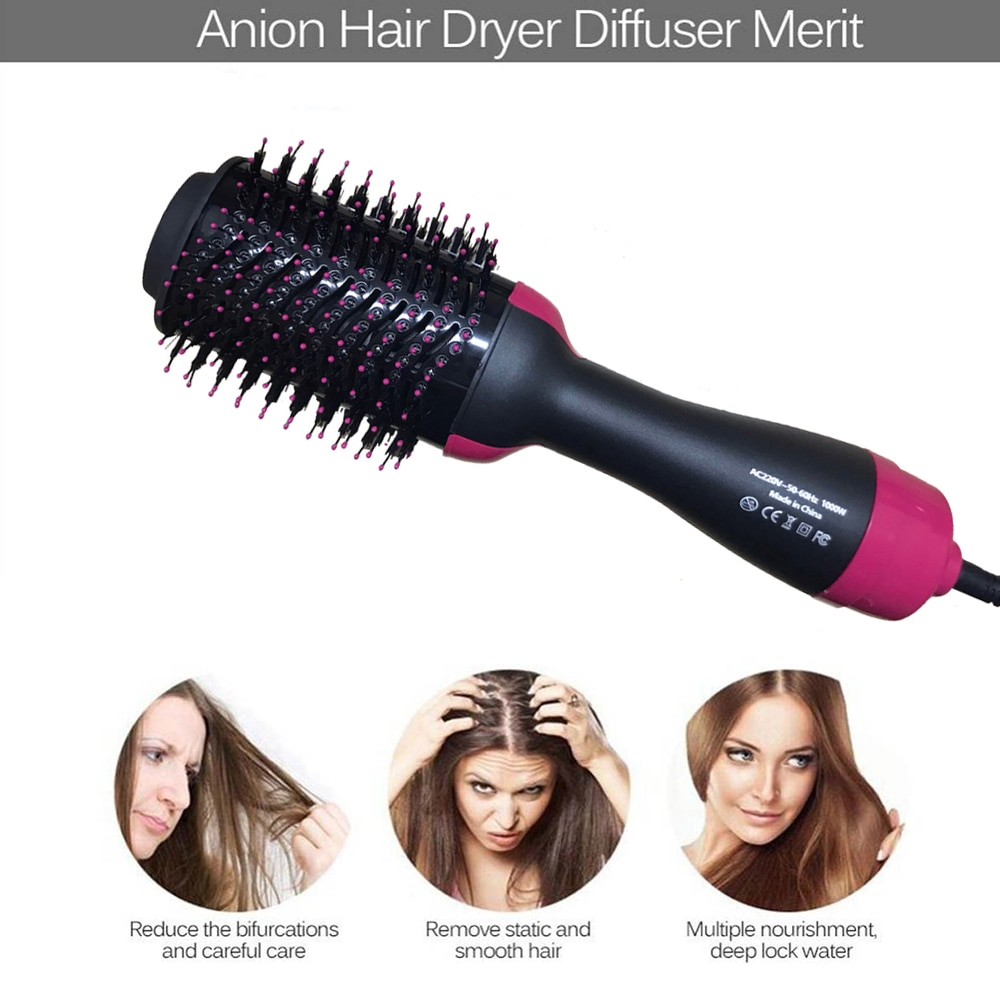 3 IN 1 One Step Hair Dryer Hot Air Brush Hair Straightener Comb Curling Brush Hair styling tools Hair Dryer Brush Volumizer Comb