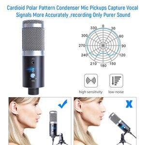 Image 3 - Профессиональный конденсаторный кардиоидный USB микрофон, Студийный микрофон для записи и пения на компьютере и ноутбуке, для потокового воспроизведения игр
