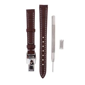 Prettyia PU Leather Watch Strap Watch Band Wristwatch Strap Replacement 12mm