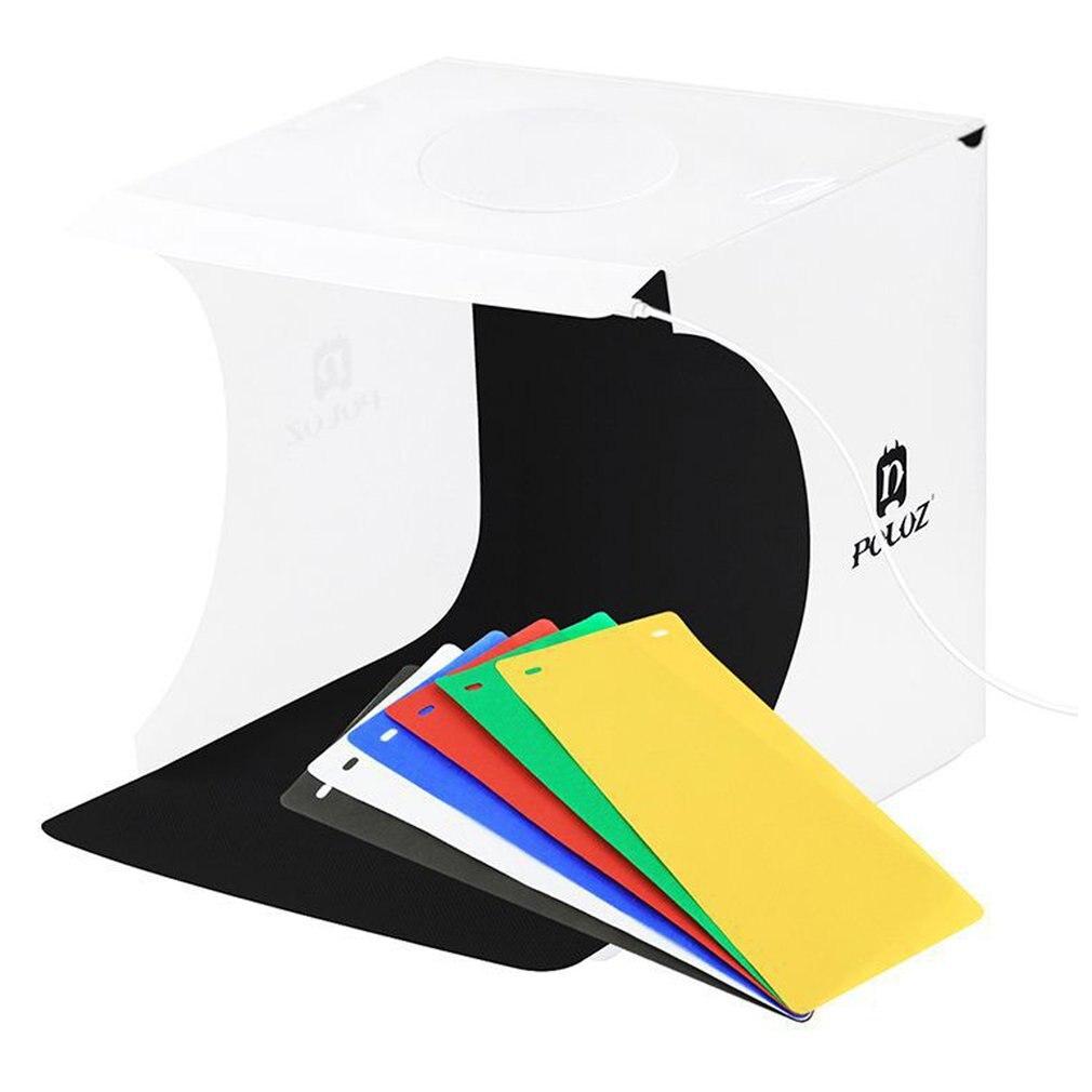 Mini tamaño caja de estudio fotográfico portátil fotografía estudio foto caja accesorios de estudio fotográfico disparo de fotografía tienda Kit