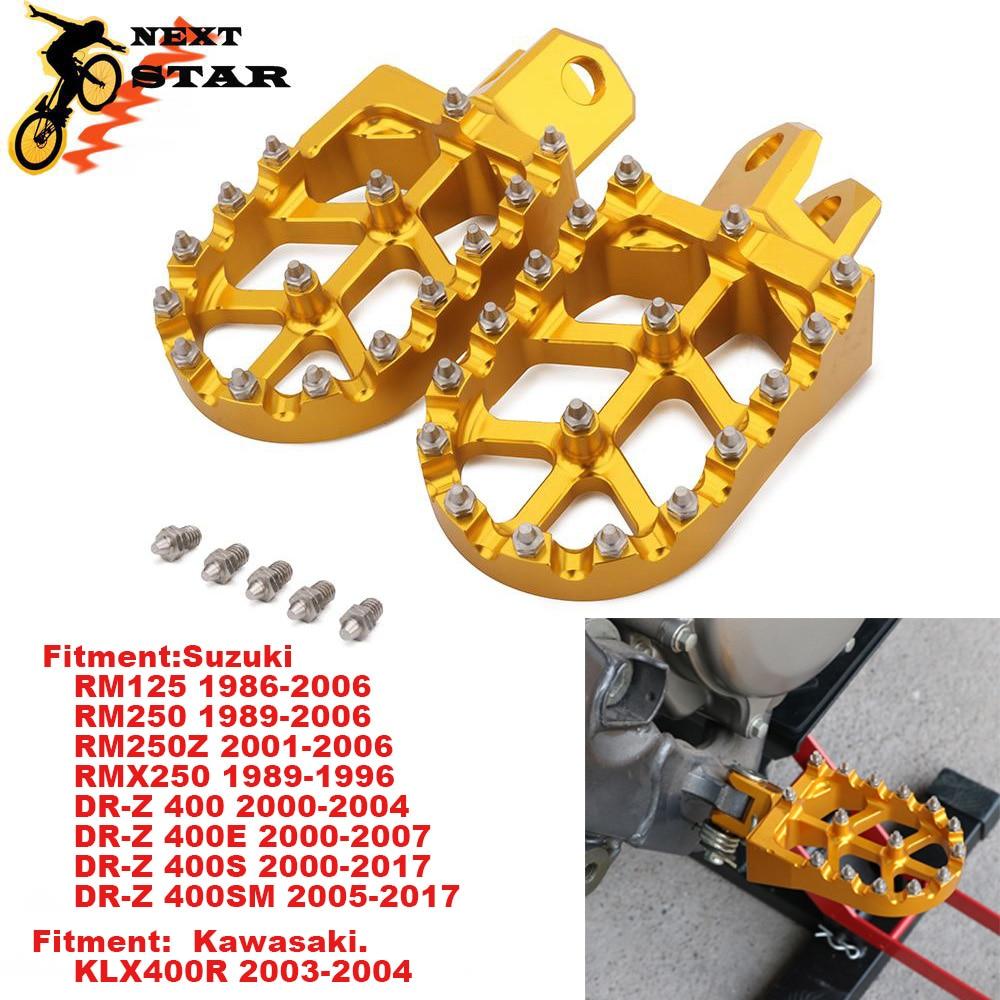 أوتاد القدم مسند Footpegs تقع الدواسات لسوزوكي RM125 RM250 250Z RMZ250 RMX250 DR-Z 400 DRZ400S DRZ400SM KLX400R الترابية الدراجة