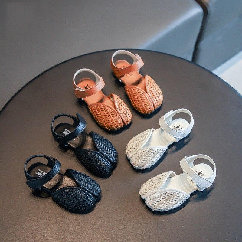 Sandalias de estilo coreano para niños, sandalias de playa de verano a la moda para niñas, sandalias de 3 colores para bebés, zapatos calzado informal