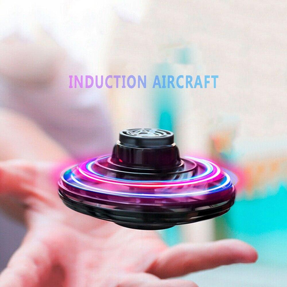 Giroscopio volador con yema del dedo, OVNI, juguete para regalo de Navidad