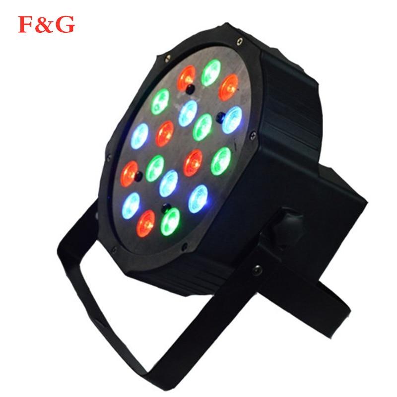 18 LED Luz de escenario RGB bola mgica de cristal bombilla DMX Par luz 110-240V discoteca Club fiesta Luz