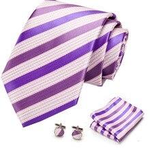 New Plaid men ties set Extra Long Size 145cm*8cm Necktie navy blue red Paisley Silk Jacquard Woven Neck Tie Suit Wedding Party
