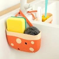 kitchen sink drain rack sponge soap debris rack plastic hanging storage basket faucet organizer shelf portable home kitchen tool