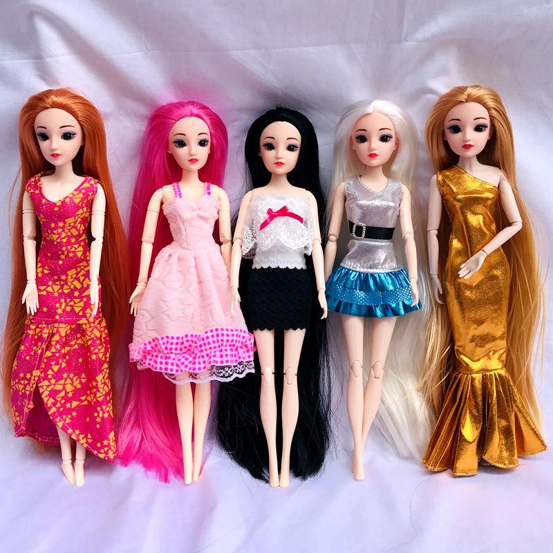 Mini muñeca de alta calidad, ropa de vestido, zapatos, perchas, ropa de...