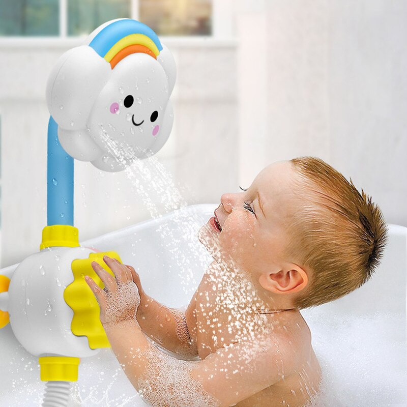 Juguetes de baño para niños, juego de agua para bebés, nubes, modelo de grifo, ducha, agua, juguete de aerosol para niños, rociador de agua, juguete de baño para bebés