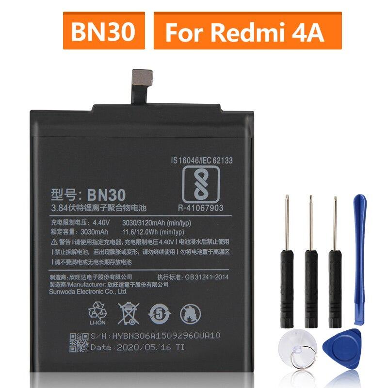 החלפת סוללה עבור Xiaomi Mi Redmi Hongmi 4A Redrice 4A BN30 נטענת טלפון סוללה 3120mAh