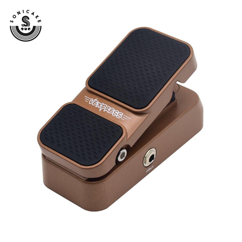 Sonicake 2 en 1 Pedal de expresión de volumen pasivo Mini Guitarra efectos Pedal QEP-02