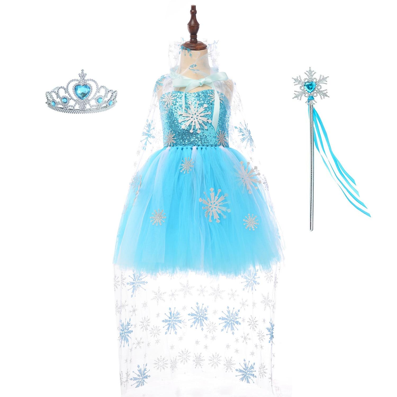 زي ملابس للبنات تنورة فستان مهرجان توتو حفلة أنثى هالوين المرحلة تأثيري المجمدة عائشة الأميرة OUHENG
