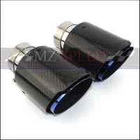 1pcs accessories suitable for bmw e46 e60 e90 exhaust pipe tail throat straight edge gloss blue muffler tail pipe
